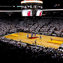 Jun 21, 2012; Miami, FL, USA; A general during the first quarter of game five in the 2012 NBA Finals between the Oklahoma City Thunder and the Miami Heat at the American Airlines Arena. Mandatory Credit: Derick E. Hingle-US PRESSWIRE