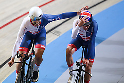 March 1, 2018 - Apeldoorn, Netherlands - Edward Clancy, Ethan Hayter of Britain competes in the Men's team pursuit during UCI Track Cycling World Championships Apeldoorn 2018  in Apeldoorn, the Netherlands on 1st March 2018. The track cycling worlds take place from 28 February to 04 March. (Credit Image: © Foto Olimpik/NurPhoto via ZUMA Press)