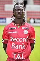 20150707 - WAREGEM, BELGIUM: Essevee's Mbaye Leye poses during the 2015-2016 season photo shoot of Belgian first league soccer team Zulte Waregem, Tuesday 07 July 2015 in Waregem. BELGA PHOTO LUC CLAESSEN