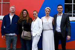 Edinburgh International Film Festival 2019<br /> <br /> Wedding Belles red carpet<br /> <br /> Pictured: (l to r) Philip John (director), Jemma Rodgers (producer), Kathleen McDermott, Shauna Macdonald and Kathleen's husband Martin Carberry<br /> <br /> Alex Todd | Edinburgh Elite media