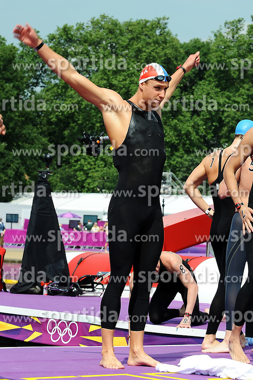 10.08.2012, Hyde Park, London, GBR, Olympia 2012, Open Swimming, im Bild Julien Sauvage France // during Open Swimming, at the 2012 Summer Olympics at Hyde Park, London, United Kingdom on 2012/08/10. EXPA Pictures © 2012, PhotoCredit: EXPA/ Insidefoto/ Andrea Staccioli..***** ATTENTION - for AUT, SLO, CRO, SRB, SUI and SWE only *****