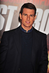 © Licensed to London News Pictures. 13/12/2011. London, England.Tom Cruise attends the UK premiere of Mission Impossible - Ghost Protocol at the IMAX in London .  Photo credit : ALAN ROXBOROUGH/LNP