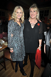 Left to right, DONNA AIR and LOUISE FENNELL at a dinner in aid of the Soil Association held at Bumpkin, 102 Old Brompton Road, London SW7 on 11th March 2009.