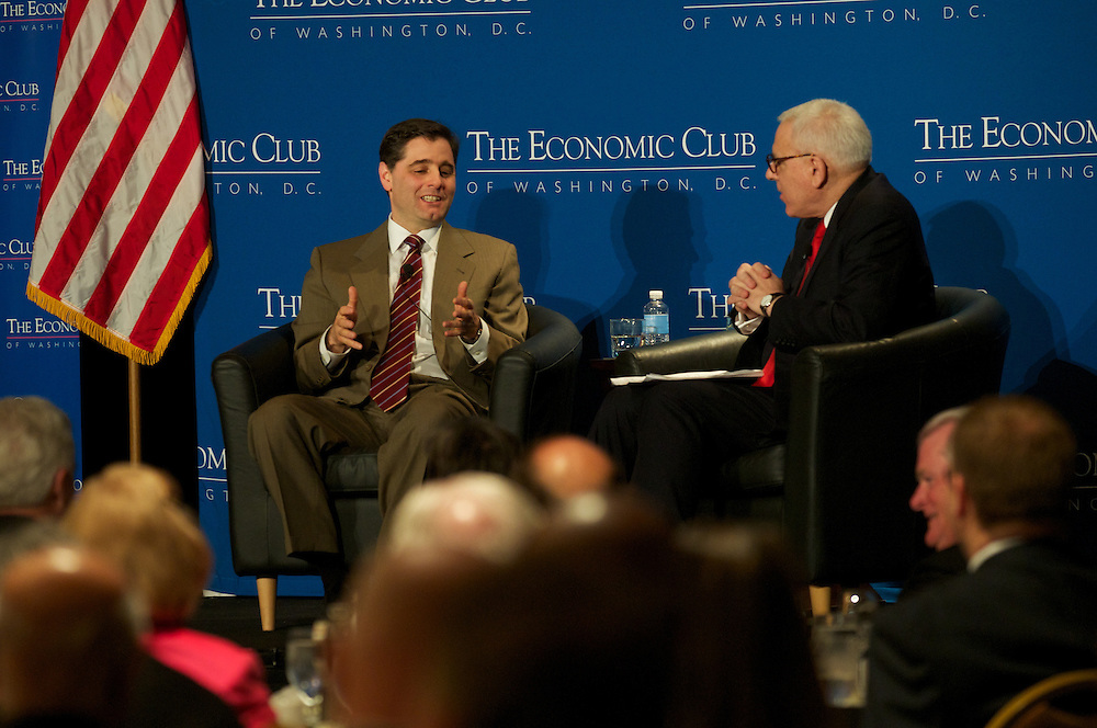 Julius Genachowski FCC Chairman addresses the members and guests of the Economic Club of Washington at the Renaissance Hotel in Washington DC