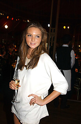 The HON.ANTALYA NALL-CAIN daughter of Lord Brocket at the party Belle Epoque hosted by The Royal Parks Foundation and Champagne Perrier Jouet held at the Lido Lawns of the Serpentine, Hyde Park, London on 14th September 2006.<br />