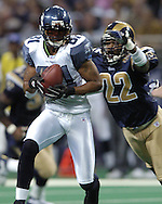 Seattle  Seahawks' widereceiver Koren Robinson (81) in action against St. Louis at the Edward Jones Dome in St. Louis, Missouri.