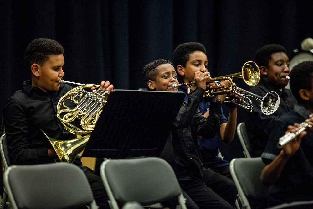 The Nucleo Project 4th Anniversary Concert 2017. The Nucleo Project is a Sistema programme working with children and young people in North Kensington, part of the 'social action through music' movementLondon, Feb. 09, 2017 (Photos/Ivan Gonzalez)