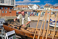 Ferriby Ships, the bronze age boat replica visits Bridlington for a press call and more sailing.