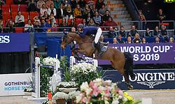 Mathy Francois Jr, BEL, Uno de La Roque<br /> Jumping Final Round 2<br /> Longines FEI World Cup Finals Jumping Gothenburg 2019