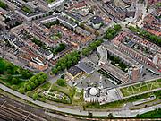 Nederland, Zuid-Holland, Rotterdam; 14–05-2020; stadsdeel Feijenoord met Essalam Moskee, klassoke moskee met minaretten, architectWilfried van Winden.<br /> District Feijenoord with Essalam Mosque, classical mosque with minarets, architect Wilfried van Winden.<br /> <br /> luchtfoto (toeslag op standaard tarieven);<br /> aerial photo (additional fee required)<br /> copyright © 2020 foto/photo Siebe Swart