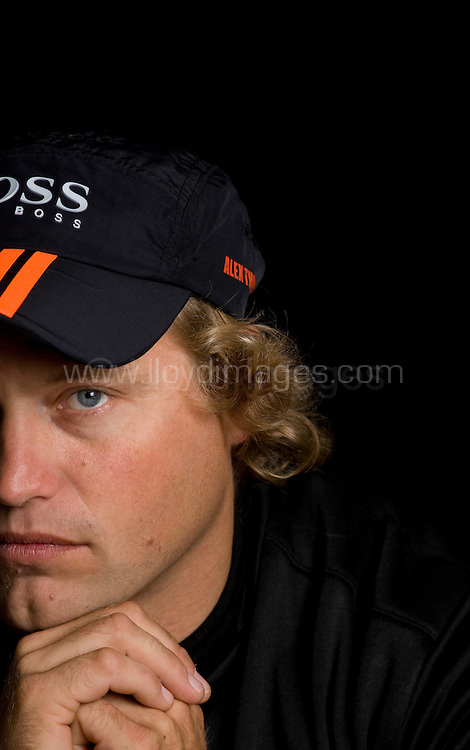 """Portraits of Alex Thomson who skippers the IMOCA Open 60 boat 'Hugo Boss', as he prepares for the Vendee Globe start in November 2008...Thomson will be embarking on the round the world race in 'Hugo Boss' and with a second in the Barcelona World Race things look good for the British sailor. ..All pictures must be credited """"Lloyd Images"""""""