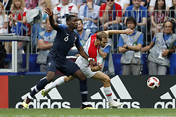 (L-R) Paul Pogba of France, Ivan Strinic of Croatia during the 2018 FIFA World Cup Russia Final match between France and Croatia at the Luzhniki Stadium on July 15, 2018 in Moscow, Russia