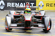 Venturi driver, Mike Conway in the rain during Round 9 of Formula E, Battersea Park, London, United Kingdom on 2 July 2016. Photo by Matthew Redman.