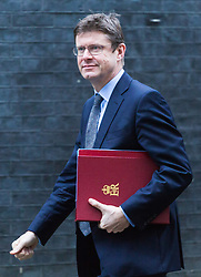 London - Secretary of State for Business, Energy and Industrial Strategy Greg Clark attends the weekly meting of the UK cabinet at Downing Street. January 23 2018.