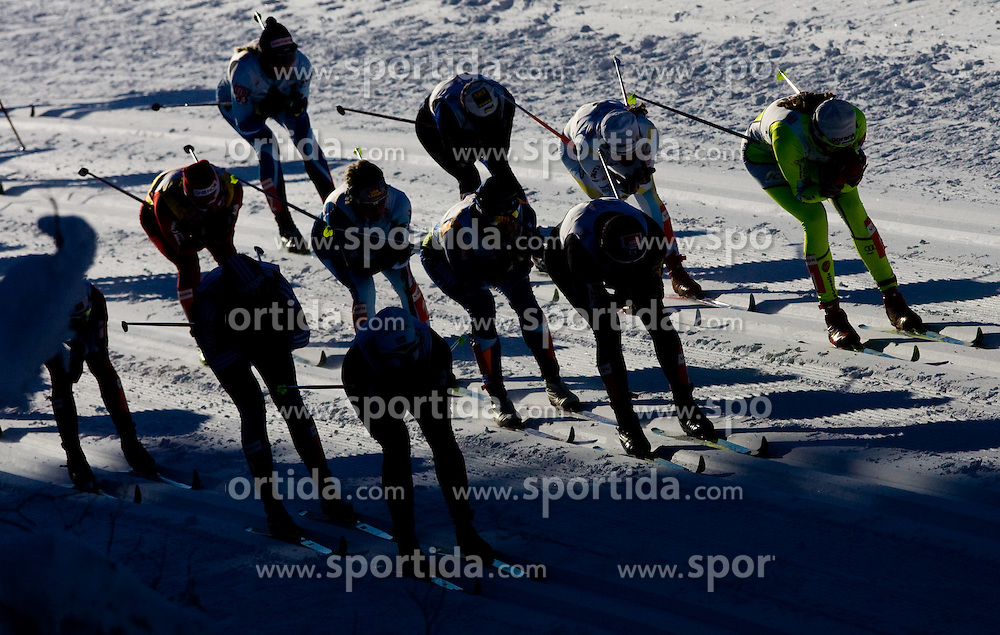 Skiers at Ladies 15 km Classic Mass Start Competition of Viessmann Cross Country FIS World Cup Rogla 2009, on December 20, 2009, in Rogla, Slovenia. (Photo by Vid Ponikvar / Sportida)