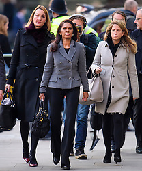 © Licensed to London News Pictures. 05/12/2016. London, UK. Investment manager GINA MILLER (Centre) arrives at the Supreme Court  in Westminster, London for first day of a  Supreme Court hearing to appeal against a November 3 High Court ruling that Article 50 cannot be triggered without a vote in Parliament. Photo credit: Ben Cawthra/LNP