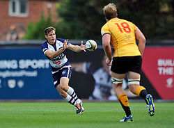 Adrian Jarvis of Bristol Rugby receives the ball - Photo mandatory by-line: Patrick Khachfe/JMP - Mobile: 07966 386802 21/09/2014 - SPORT - RUGBY UNION - Bristol - Ashton Gate - Bristol Rugby v Cornish Pirates - GK IPA Championship.