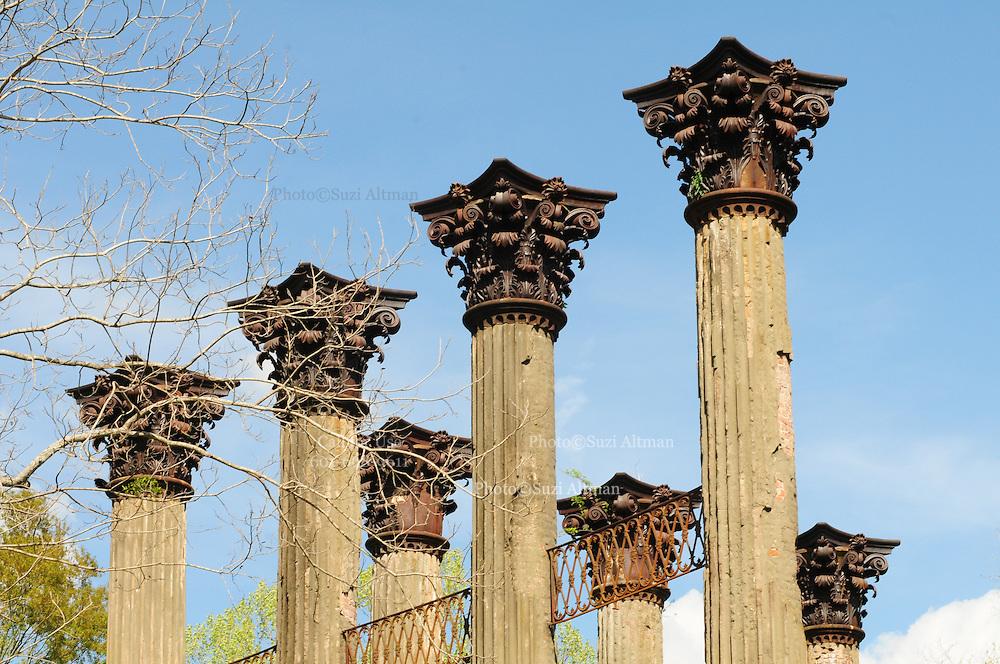 Historical Windsor Ruins in Natchez Mississippi Sunday March 18,,2012. © Suzi Altman.