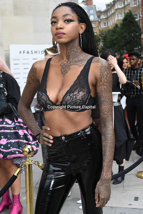 Prisciliavanb attend Fashion Scout - SS19 - London Fashion Week - Day 2, London, UK. 15 September 2018.