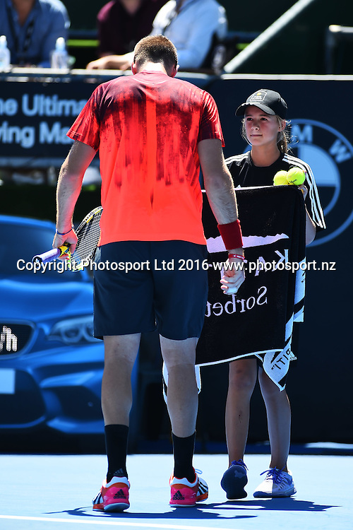 Jack Sock during Day 6 Finals of the 2016 ASB Classic Mens. ASB Tennis Centre, Auckland, New Zealand. Saturday 16 January 2016. Copyright Photo: Chris Symes / www.photosport.nz