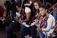 "Middletown music students rehearse with members of ""Barrage"" at Twin Towers Middle School on Friday, Jan. 27, 2012. The 244 students were preparing to perform with ""Barrage"" on Friday night."