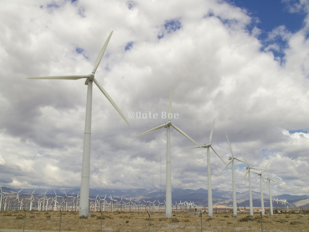 Wind farm just outside Palm springs CA.