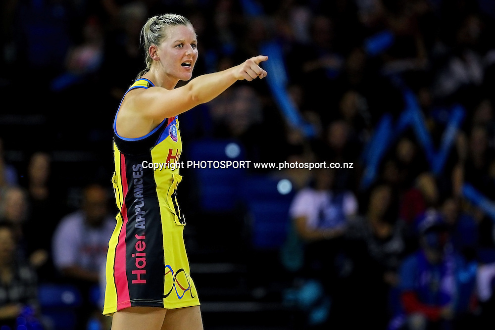 Pulse's Katrina Grant. ANZ Netball Championship, Northern Mystics v Central Pulse, Trusts Stadium, Auckland, New Zealand. Sunday 21st April 2013. Photo: Anthony Au-Yeung / photosport.co.nz