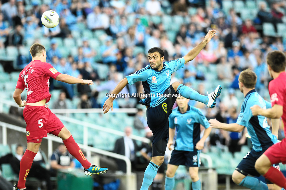 22.12.2011 Sydney, Australia. Sydney forward  Bruno Cazarine in action during the A-League game between Sydney FC and Adelaide United played at the Sydney Football Stadium.