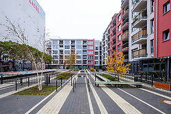 Modern residential apartment building development ay Pettenkoferstrasse in Friedrichshain , Berlin, Germany