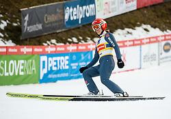 Katharina Althaus of Germany during Team Competition at Day 2 of World Cup Ski Jumping Ladies Ljubno 2019, on February 9, 2019 in Ljubno ob Savinji, Slovenia. Photo by Matic Ritonja / Sportida