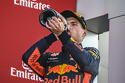 May 13, 2018 - Barcelona, Catalonia, Spain - MAX VERSTAPPEN (NED), Red Bull Racing, celebrates his 3rd place at the podium  after getting third at the Spanish GP at Circuit de Barcelona - Catalunya (Credit Image: © Matthias Oesterle via ZUMA Wire)