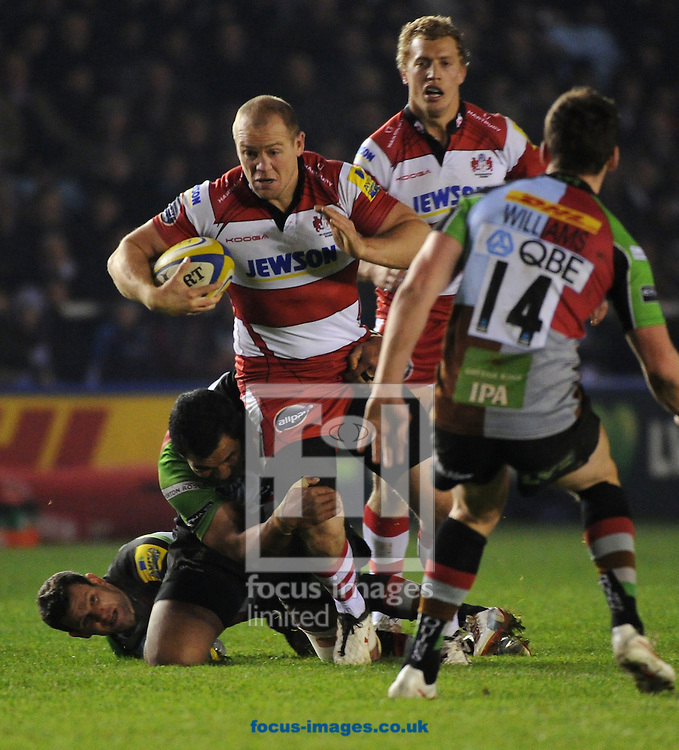 Picture by Seb Daly/Focus Images Ltd +447738 614630.03/11/2012.Mike Tindall of Gloucester Rugby during the Aviva Premiership match at Twickenham Stoop , London.