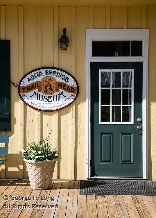 Abita Springs Trailhead Museum exterior entrance