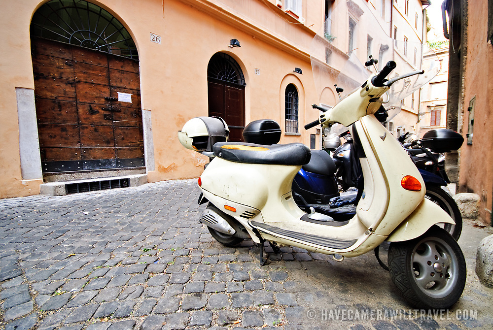 Scooters on the streets of Rome