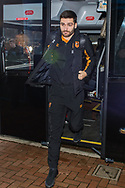 Jon Toral of Hull City arrives at Ewood Park, Blackburn ahead of during the FA Cup match between Blackburn Rovers and Hull City<br /> Picture by Matt Wilkinson/Focus Images Ltd 07814 960751<br /> 06/01/2018