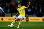 Leeds United midfielder Kalvin Phillips (23)  during the EFL Sky Bet Championship match between Preston North End and Leeds United at Deepdale, Preston, England on 9 April 2019.