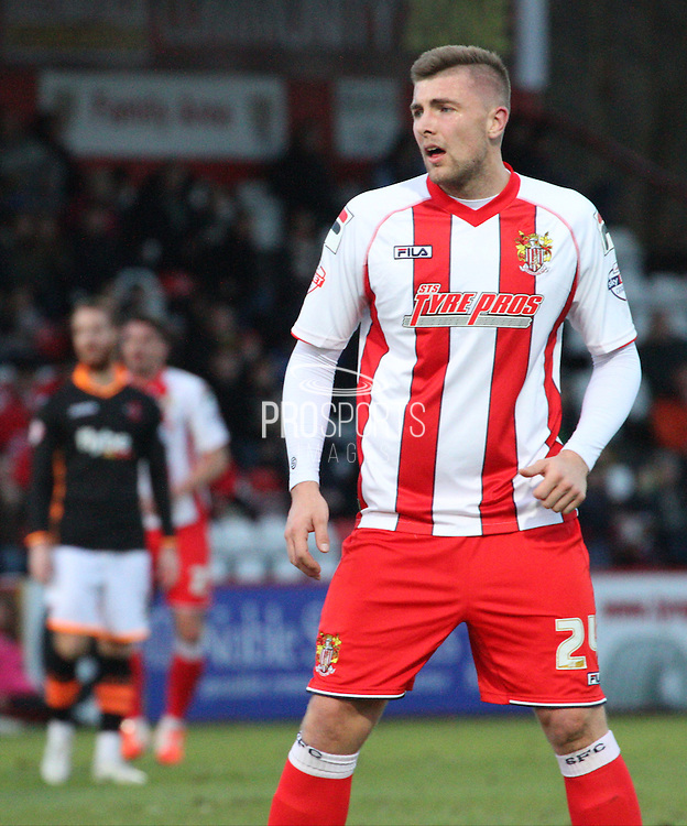 Ryan Brunt during the Sky Bet League 2 match between Stevenage and Exeter City at the Lamex Stadium, Stevenage, England on 20 December 2014. Photo by Kieran Clarke.