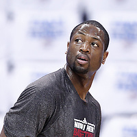 14 June 2012: Miami Heat shooting guard Dwyane Wade (3) warms up prior to Game 2 - Heat at Thunder - of the 2012 NBA Finals, at the Chesapeake Energy Arena, Oklahoma City, Oklahoma, USA.