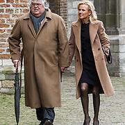 NLD/Delft/20131102 - Herdenkingsdienst voor de overleden prins Friso, Ton Elias en partner
