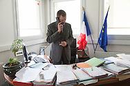 France. Champigny sur Marne, Seine Saint Denis . Elsa Triolet school,  Mr Seguin director of  Elsa Triolet school, Education prioritaire program. in the Suburb of Paris.  / le Directeur Mr Seguin, Ecole Elsa Triolet  en banlieue; programme education prioritaire,