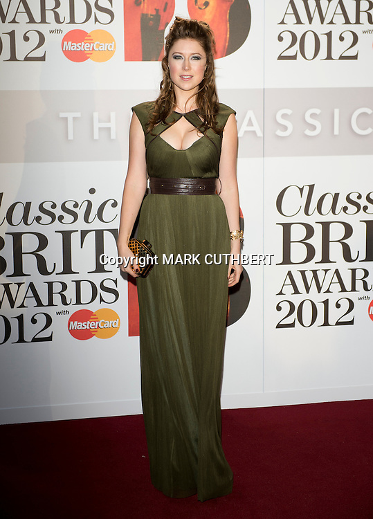 Hayley Westenra arriving at the 2012 Classic Brit Awards at the Royal Albert Hall in London.