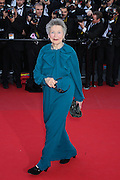 "Emmanuelle Riva attends ""Blood Ties"" Red Carpet  during the 66th Annual Cannes Film Festival at the Palais des Festivals on May 20, 2013 in Cannes, France.."