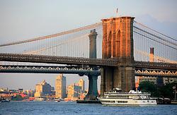 USA NEW YORK JUN10 - Brooklyn and Manhattan  bridges across the East River in New York...jre/Photo by Jiri Rezac..© Jiri Rezac 2010