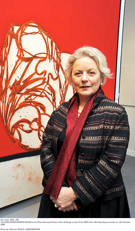 The HON.ANNA SOMERS-COCKS at the Moet Hennessy Pavilion of Art & Design London Prize 2009 held in Berkeley Square, London on 12th October 2009.