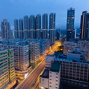 High density housing in Kowloon, Hong Kong
