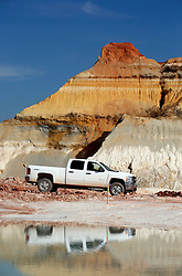 15 Feb 2010. Sandersville, Georgia, USA.<br /> Imerys, North America Ceramics, a part of the Imerys Group worldwide.<br /> Kaolin is processed from the Shepherd mine close to the Kentucky Tennessee Clay plant on Deepstep Road near Sandersville, Georgia.<br /> Photo; Charlie Varley