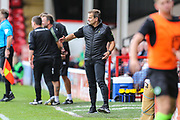 Forest Green Rovers manager, Mark Cooper during the EFL Sky Bet League 2 match between Walsall and Forest Green Rovers at the Banks's Stadium, Walsall, England on 10 August 2019.