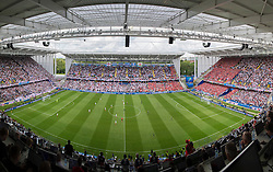 LENS, FRANCE - Thursday, June 16, 2016: A general view of as Wales prepare to kick off against England during the UEFA Euro 2016 Championship Group B match at the Stade Bollaert-Delelis. (Pic by Paul Greenwood/Propaganda)