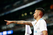 Real Madrid's Spanish midfielder Daniel Ceballos gestures during the Spanish cup, Copa del Rey, round of 16, 2nd leg football match between Real Madrid and Numancia on January 10, 2018 at Santiago Bernabeu stadium in Madrid, Spain - Photo Benjamin Cremel / ProSportsImages / DPPI