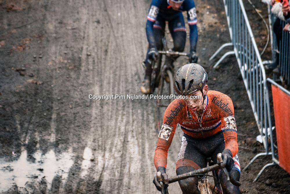 Lars VAN DER HAAR of NED during the Men Elite race, UCI Cyclo-cross World Championship at Bieles, Luxembourg, 29 January 2017. Photo by Pim Nijland / PelotonPhotos.com | All photos usage must carry mandatory copyright credit (Peloton Photos | Pim Nijland)